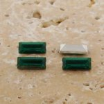 Teal Jewel - 7x3mm. Rectangle Baguette Gem Jewels - Lots of 144