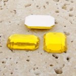 Jonquil Jewel Faceted - 40x30mm. Octagon Cabochons - Lots of 12