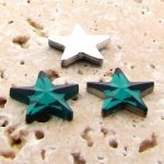 Emerald Jewel Faceted - 15mm. Star Domed Cabochons - Lots of 144