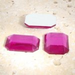 Fuchsia Jewel Faceted - 25x18mm. Octagon Cabochons - Lots of 72