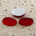 Ruby Jewel Baroque - 18x13mm. Oval Domed Cabochons - Lots of 144