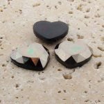 Hematite Faceted - 18mm. Heart Domed Cabochons - Lots of 144