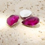 Fuchsia Jewel - 25x18mm. Pear Faceted Gem Jewels - Lots of 72