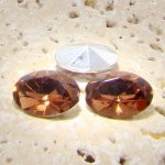 Topaz Jewel - 18x13mm. Oval Faceted Gem Jewels - Lots of 144