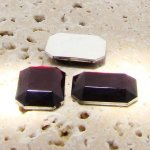 Garnet Jewel Faceted - 40x30mm. Octagon Cabochons - Lots of 12