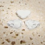 Crystal Jewel Faceted - 15mm. Heart Cabochons - Lots of 144