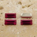 Fuchsia Jewel - 7x3mm Rectangle Baguette Gem Jewel - Lot of 144