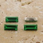 Peridot Jewel - 7x3mm Rectangle Baguette Gem Jewel - Lots of 144