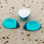 Aqua Jewel - 25x18mm. Pear Domed Cabochons - Lots of 72