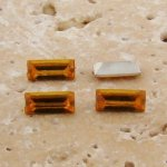 Jonquil Jewel - 7x3mm. Rectangle Baguette Gem Jewel - Lot of 144