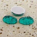 Teal Jewel Baroque - 18x13mm. Oval Domed Cabochons - Lots of 144