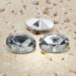 Black Diamond - 14x10mm. Oval Faceted Gem Jewels - Lots of 144