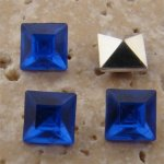 Sapphire Jewel - 6x6mm. Square Faceted Gem Jewels - Lots of 144