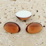 Topaz Jewel - 25x18mm. Oval Domed Cabochons - Lots of 72