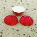 Fuchsia Jewel Baroque Domed - 18mm. Cabochons - Lots of 144