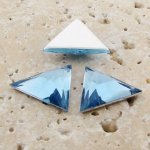 Light Sapphire Facet - 18x18mm Triangle Cabochons - Lots of 144