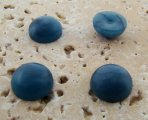 12mm. CAPRI MATTE MARBLE ROUND CABOCHONS - Lot of 48