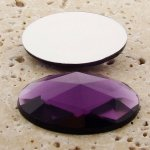 Amethyst Mutli Faceted - 40x30mm. Oval Cabochons - Lots of 12