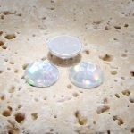 Crystal AB Jewel Faceted - 7mm Round Cabochons - Lots of 144