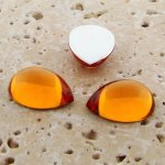 Madeira Topaz Jewel - 13x8.5mm. Pear Cabochons - Lots of 144