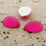 Pink Matte Frosted - 13x8.5mm. Pear Cabochons - Lots of 144