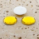 Jonquil Jewel Multi Faceted - 18mm Round Cabochons - Lots of 144