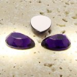 Amethyst Jewel Faceted - 13x8.5mm. Pear Cabochons - Lots of 144