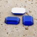 Sapphire Jewel Faceted - 25x18mm. Octagon Cabochons - Lots of 72