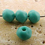 8MM TURQUOISE GLASS BAROQUE ROUND BEADS - Lot of 12