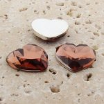 Topaz Jewel Faceted - 18mm. Heart Domed Cabochons - Lots of 144
