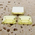 Jonquil Jewel Faceted - 15mm. Square Cabochons - Lots of 144
