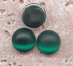 Emerald Matte Frosted - 13mm Round Domed Cabochons - Lots of 144
