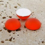 Orange Matte Frosted - 13mm. Round Domed Cabochons - Lots of 144