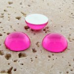 Pink Jewel - 25mm. Round Domed Cabochons - Lots of 72