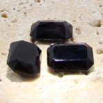 Jet Opaque - 25x18mm. Octagon Faceted Gem Jewels - Lots of 72