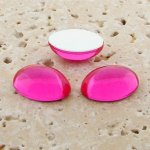 Pink Jewel - 25x18mm. Oval Domed Cabochons - Lots of 72