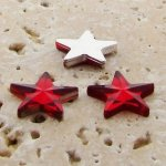 Ruby Jewel Faceted - 15mm. Star Domed Cabochons - Lots of 144