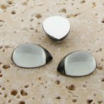 Black Diamond Jewel - 25x18mm. Pear Domed Cabochons - Lots of 72