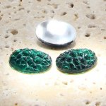 Emerald Jewel Baroque - 18x13mm. Oval Cabochons - Lots of 144
