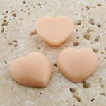 Angleskin Opaque Smooth - 18mm. Heart Cabochons - Lots of 144