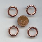 18MM COPPER COATED RING SPACER BEADS - Lot of 12
