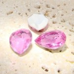 Rose Jewel - 25x18mm. Pear Faceted Gem Jewels - Lots of 72