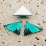 Teal Jewel Faceted - 18x18mm. Triangle Cabochons - Lots of 144