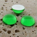 Peridot Jewel - 25mm. Round Domed Cabochons - Lots of 72