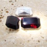 Garnet Jewel - 25x18mm. Octagon Faceted Gem Jewels - Lots of 72