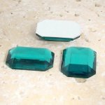 Teal Jewel Faceted - 18x13mm Octagon Cabochons - Lots of 144