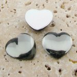 Black Diamond Jewel Smooth - 18mm Heart Cabochons - Lots of 144
