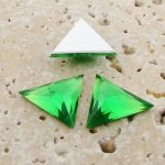 Peridot Faceted - 18x18mm. TriangleCabochons - Lots of 144