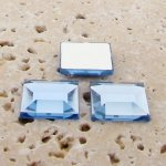 Light Sapphire Jewel Facet - 12mm Square Cabochons - Lots of 144