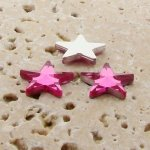 Pink Jewel Faceted - 15mm. Star Domed Cabochons - Lots of 144